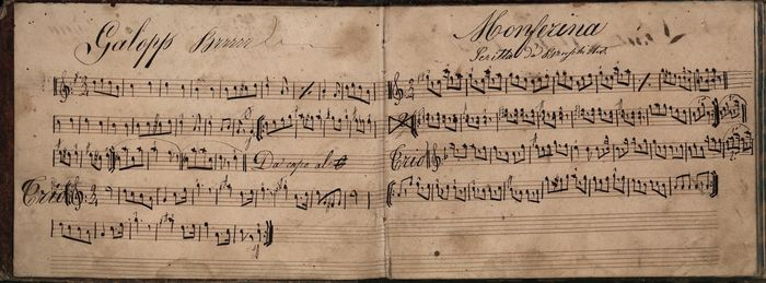 Manuscript;  Collection of sheet music and scores (Don Quixote, Polka, Mazurka & others) - 1860/1890