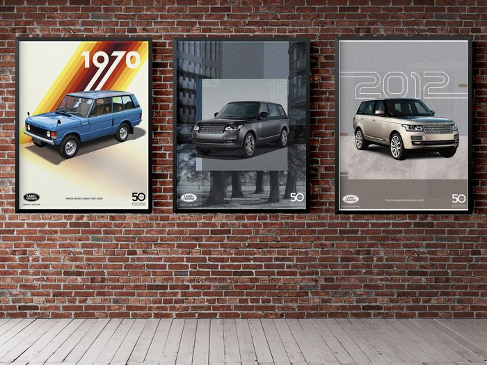 Poster - 70 Years of Land Rover History N°3 - Poster pack 3 pcs - 70x50 - Land Rover