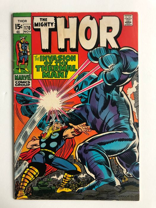 The Mighty Thor #170 - 1st Appearance Of The Thermal Man! - High Grade!! - Softcover - Erstausgabe - (1969)