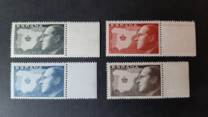 Spania 1947 - Juan III, Count of Barcelona. Complete set of 4 values, sheet margin.