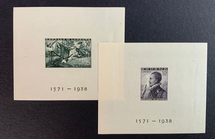Spanien 1938 - Lepanto imperforate miniature sheets - Edifil 864/65