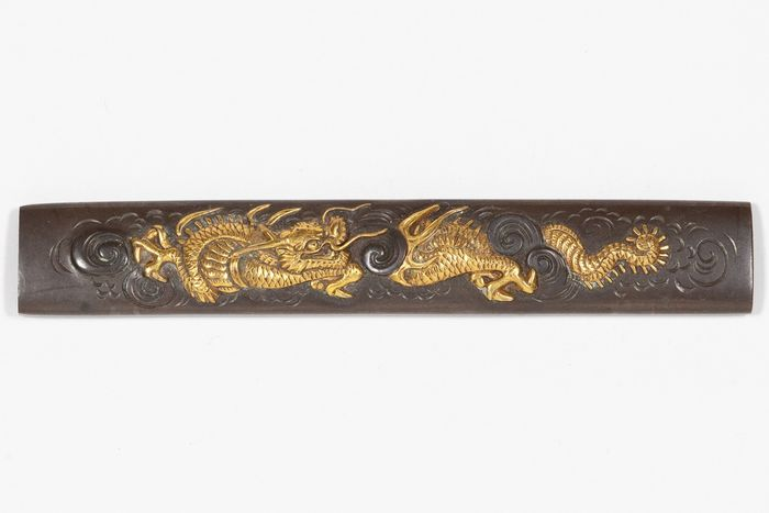 Kozuka (1) - Eisen - Dragon - Kozuka (小柄 ), dragon in the clouds design (雲竜) - Japan - 19. Jahrhundert