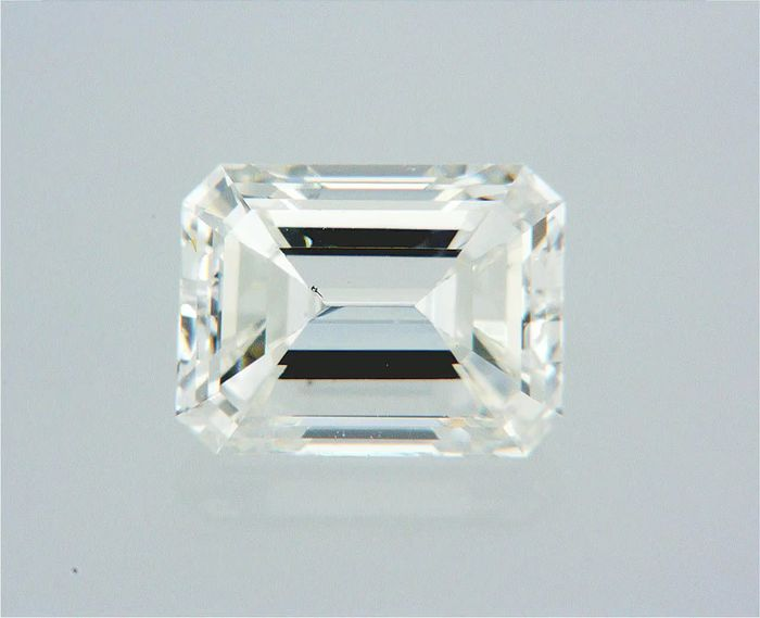 1 pcs Diamant - 0.52 ct - Smaragd - F - VS2