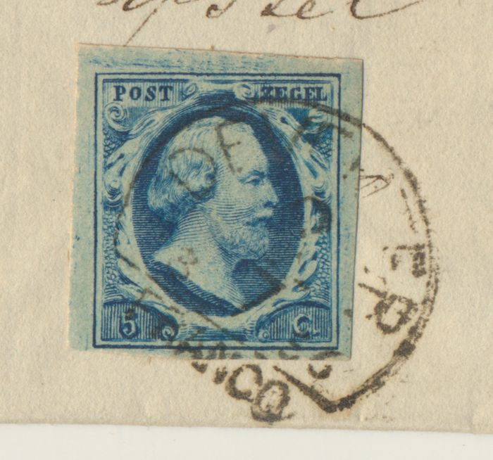 Netherlands 1856 - Letter cover from 'Rijssen' (name cancel) to 'Deventer' - NVPH 1