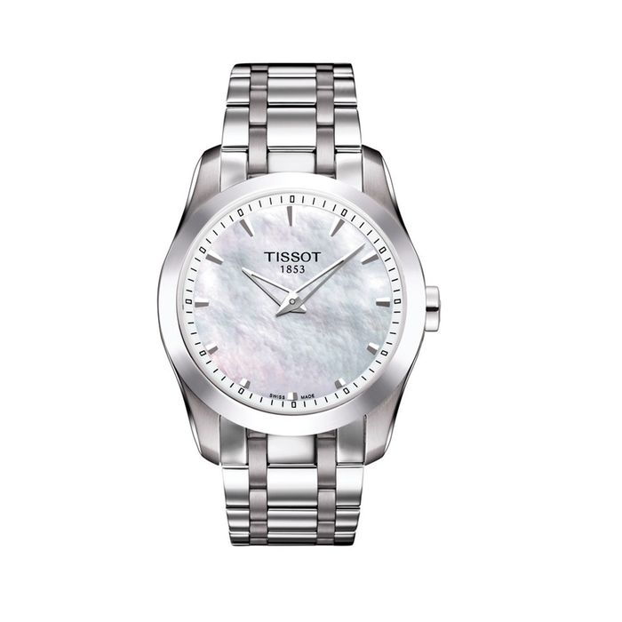 Tissot - Couturier Watch Mother of Pearl Dial Leather Strap - T0352461611100 - Damen - Brand NEW