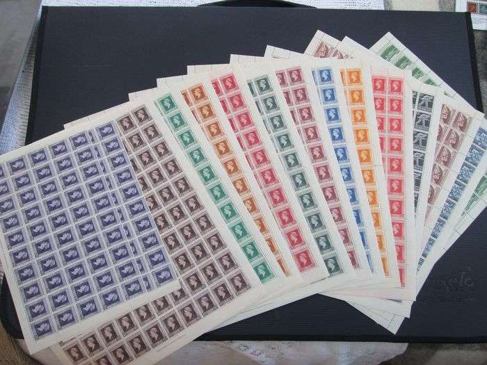 Netherlands 1944/1946 - Liberation stamps in sheets