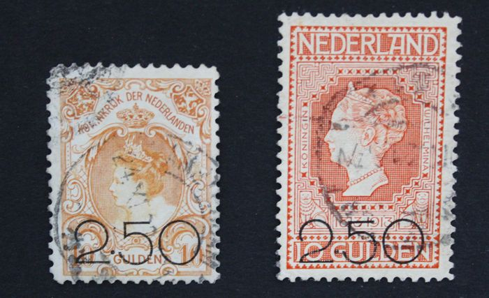 Netherlands 1920 - Clearance issue - NVPH 104/105