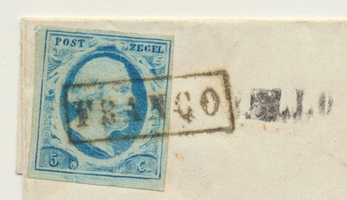 Netherlands 1864 - Letter cover from 'Twello' (name cancel in error on the front) to 'Deventer' - NVPH 1