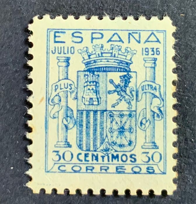 Spanien 1936 - Coat of arms of Spain, Granada issue, well centred - Edifil 801