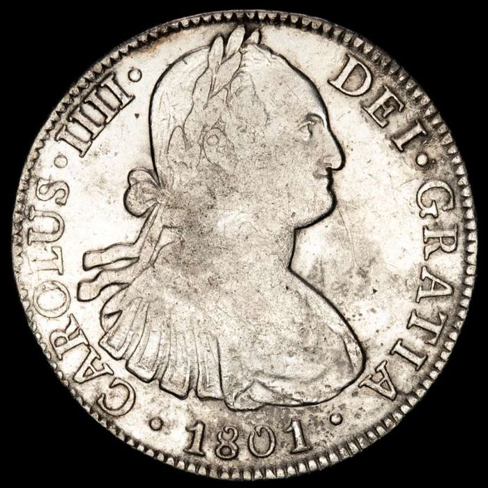 Espagne - 8 Reales - Carlos IV (1788 - 1808) - Mexico. 1801 F·T - Argent