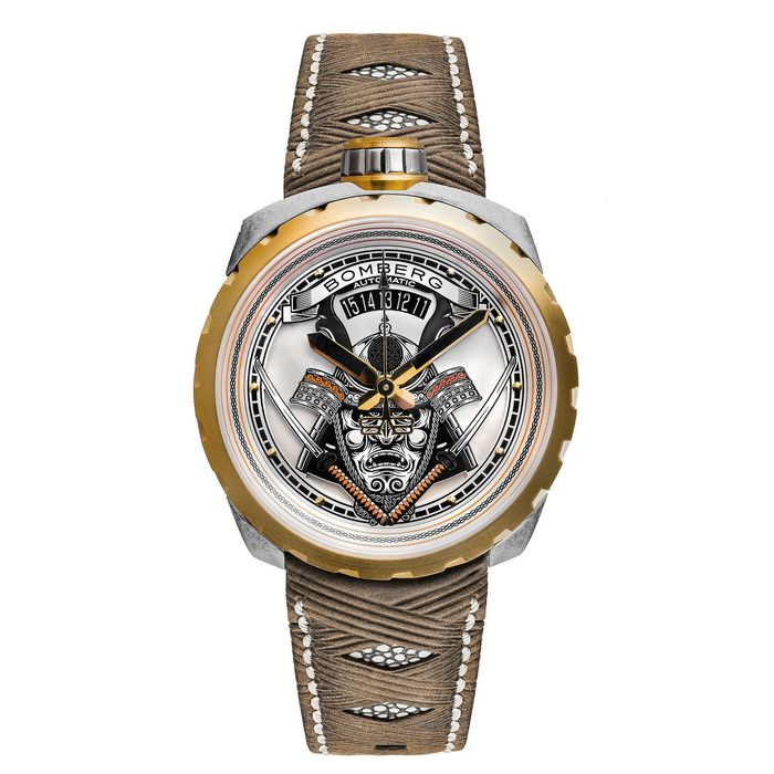 Bomberg - BOLT-68 Automatic Watch Samourai Gold PVD LIMITED EDITION of 10 - BS45ASPG.042-2.3 - Men - Brand NEW