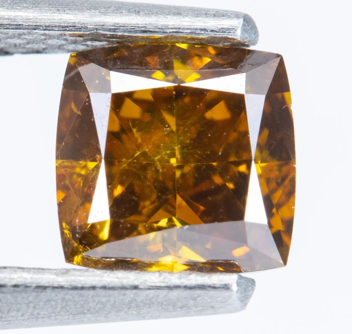 Diamond - 0.60 ct - Natural Fancy Deep Yellow-Orange - SI2  *NO RESERVE*