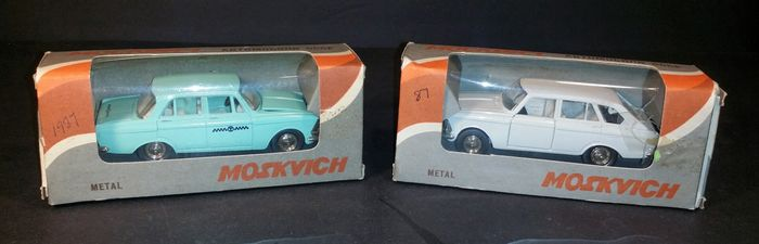 Moskvitch - Made in USSR - 1:43 - 2 x Moskvitch
