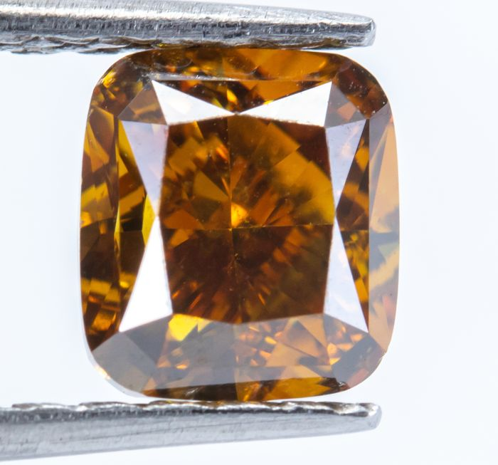 Diamond - 1.00 ct - Natural Fancy Deep Yellowish Orange - SI2  *NO RESERVE*