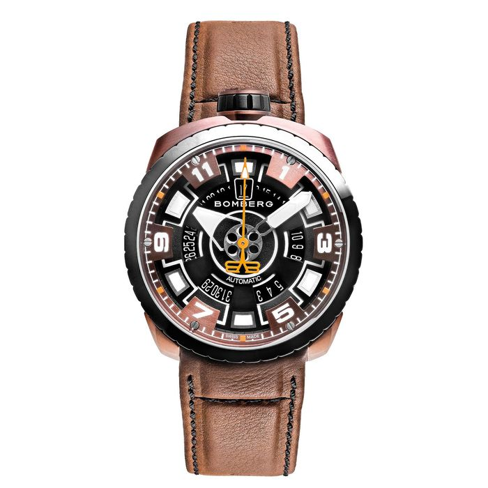 Bomberg - BOLT-68 Automatic Watch Black & Brown PVD LIMITED EDITION of 10 - BS45APBRBA.045-2.3 - Herren - Brand NEW