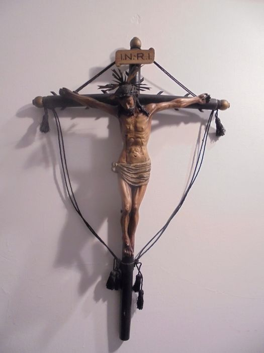 Cruce, Crucifix - Lemn - Early 19th century