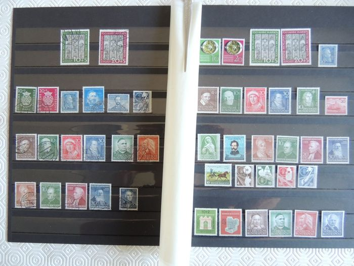Bundesrepublik Deutschland - Selection of stamps and series from the '50s
