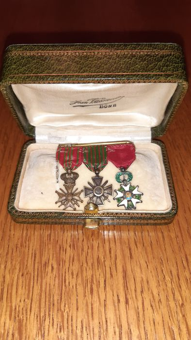 France - Army/Infantry - miniature military medal - 1900