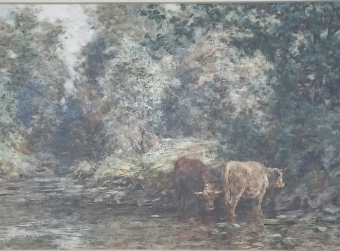 Unknown (20th Century) - Cattle watering in the countryside