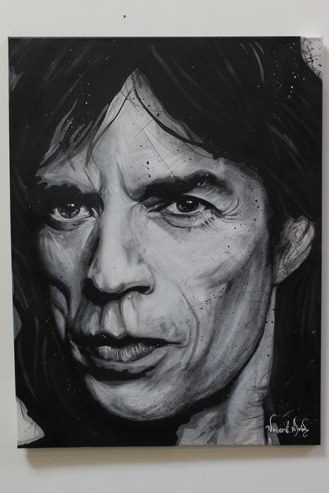 Mick Jagger & Related, Rolling Stones, Vincent Mink  Artwork / painting, Vincent Mink 60x80x2 cm - Artwork / painting, acrylic on canvas on - Artwork/ Painting - 2020/2020