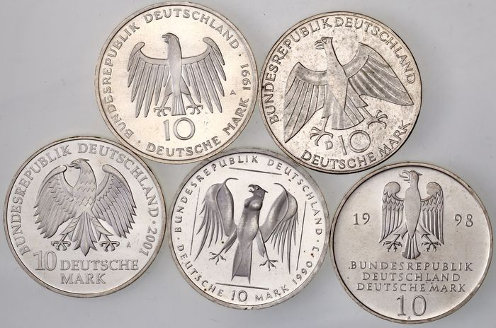Germany - Lot de x 10 Deutsche Mark - Silver