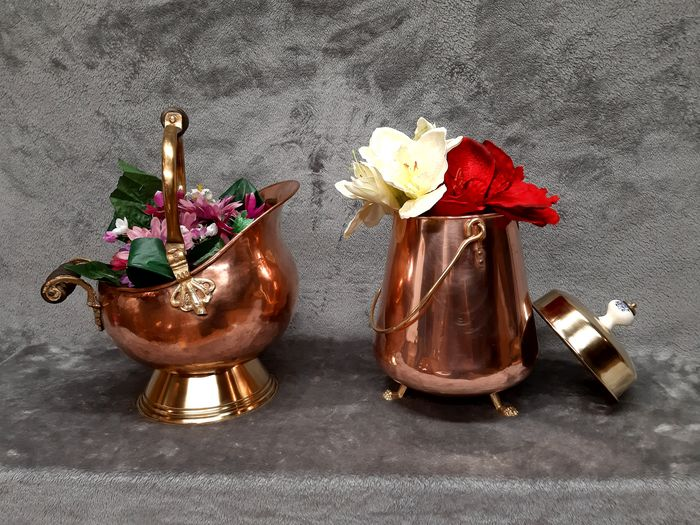 Beautiful coal kit and cover (2) - Brass, Copper