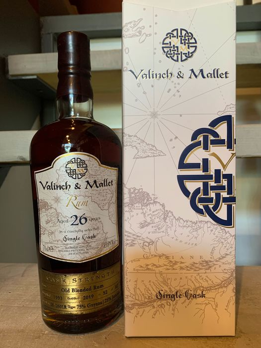 Valinch & Mallet 1993 26 years old - Old Blend 26 year old 75% Guyana - b. 2019 - 70cl