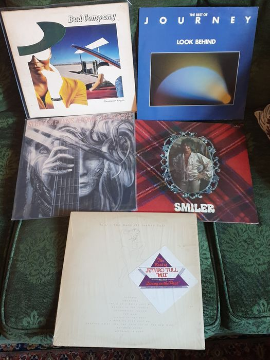 Bad Company, Jethro Tull, Rod Stewart, Various Artists/Bands in Classic Rock (before 1990), Journey/ Steve Stevens - Différents artistes - Différents titres - LP's - 1974/1989