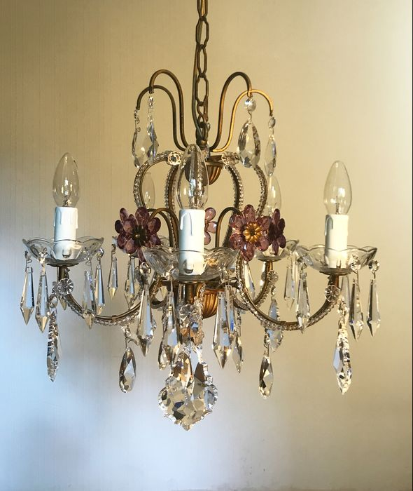 Crystal beaded - Chandelier - Victorian Style