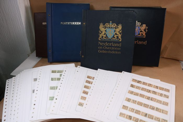 Netherlands and overseas 1876/1995 - Batch in four albums and on loose pages