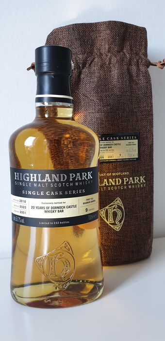 Highland Park 2010 9 years old 20th Anniversary of the Dornoch Castle  - Original bottling - b. 2020 - 70cl
