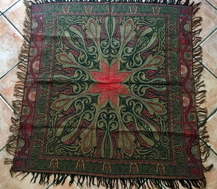 Beautiful large carrot cloth (Paisley) - approx. 1900 - Cotton