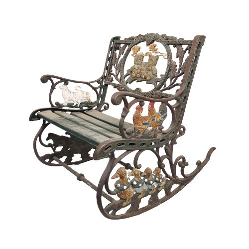 Antique rocking chair - Iron (cast/wrought)