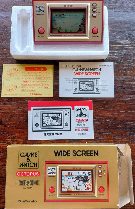 Nintendo Game & Watch - Wide Screen - Octopus - LCD game - In original box