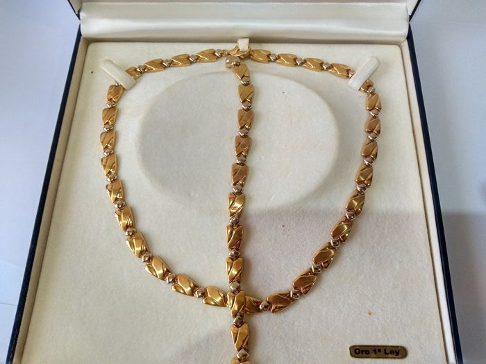 18 kt. Yellow gold - Necklace and Bracelet Set