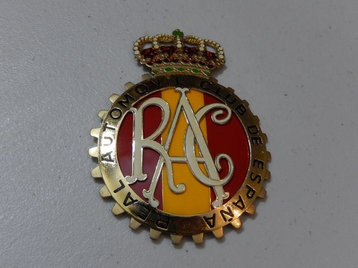 Badge - Vintage Original Espana Spain RAC Metal Car Badge Auto Emblem - Spain