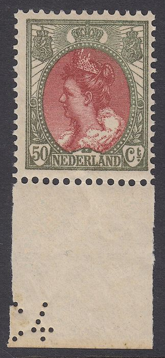 Netherlands 1899 - Queen Wilhelmina type 'fur collar' - NVPH 74