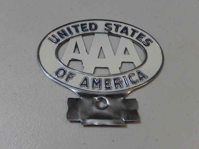Plakette - Rare AAA Automobile of America United States of America Plate Topper Car Badge Auto Emblem - USA
