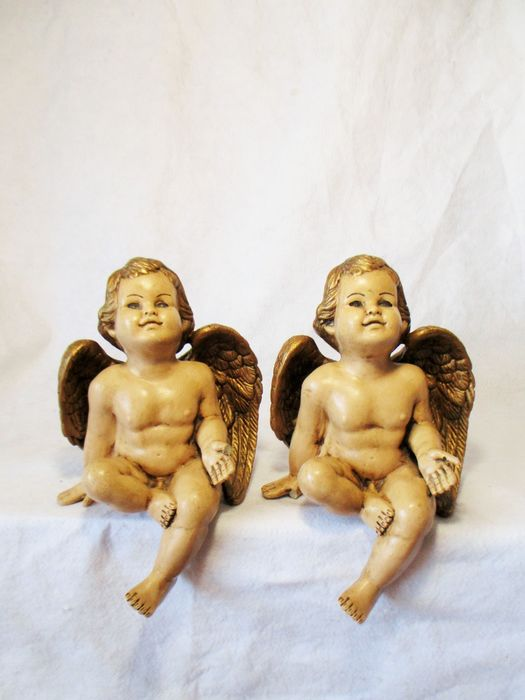 Mantel Angels (2) - Baroque - Resin/Polyester