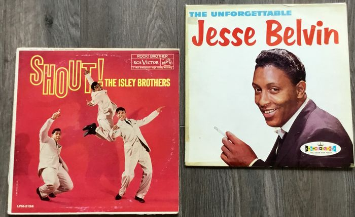 The Isley Brothers, Jesse Belvin - Shout!, The Unforgettable - Multiple titles - LP's - 1959/1959