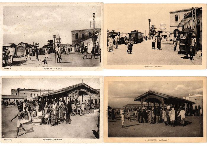 Djibouti - Ville et paysages - Cartes postales (Collection de 40) - 1910-1945