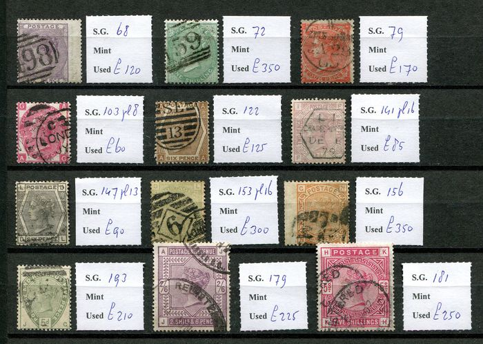 Great Britain 1854/1883 - Victoria collection - Stanley Gibbons