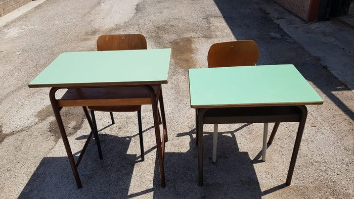 School desks with chairs