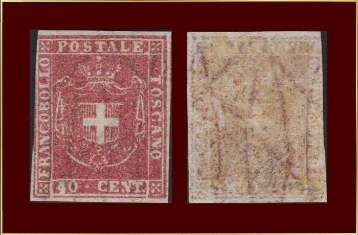 Italien 1860 - Tuscany old states 40 c. new and certified