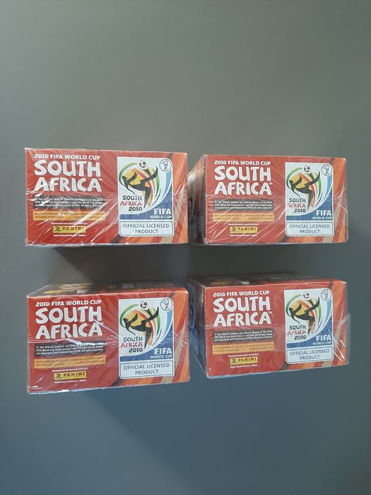 Panini - World Cup 2010 South Africa - 4 original sealed boxes (= 4 x 100 packs)