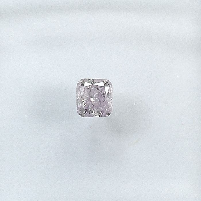 Diamond - 0.13 ct - Cushion - Natural Fancy Light Pink - I2 - NO RESERVE PRICE
