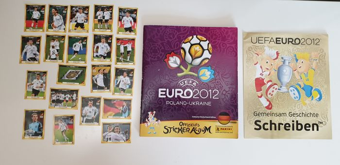 Panini - Euro 2012 - Complete album + 20 loose stickers + Posterset Germany