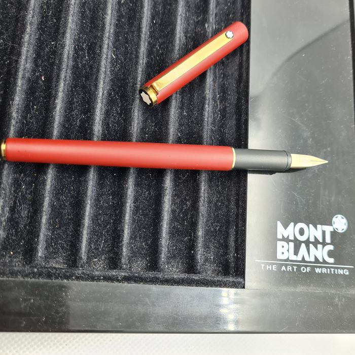 Montblanc - S-Line fountain pen - ref. 2118 - nib (M) - 1980's - Uncommon red/burgundy body