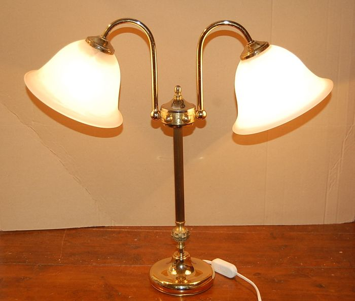 Table lamp - Brass, Glass
