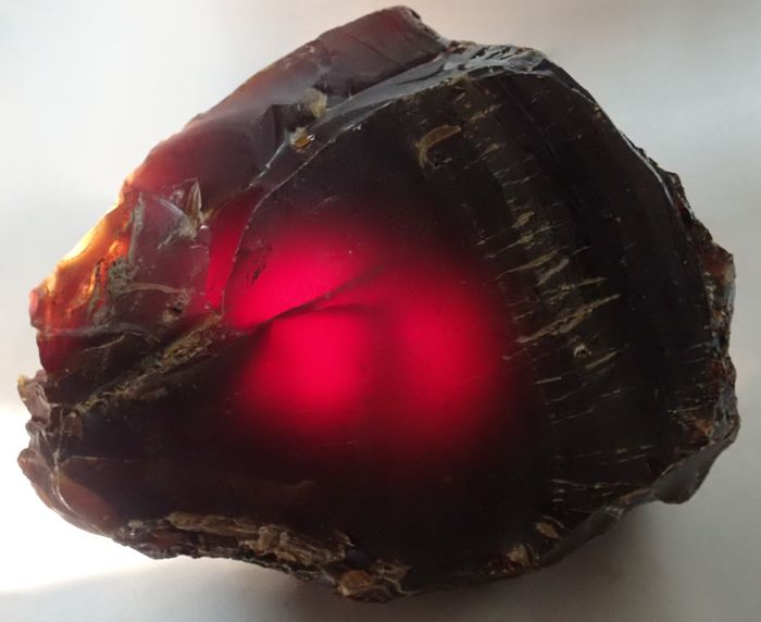 Amazing Natural Red / Brown Amber Rough - 160×140×65 mm - 497.5 g